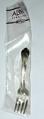 NOS New Antique ALVIN Sterling Silver Baby FORK Tarnished Sealed CHATEAU ROSE
