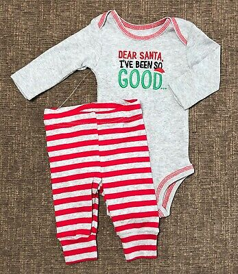 8587f3784865 Newborn Baby Carters NWT Christmas Outfit Boys Girls Santa Claus One Piece  Pants