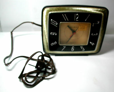 New Antique Black & Gold GE General Electric Deco Model 7H226 Alarm Clock w/ Tag