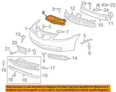 Partslink Number TO1038124 OE Replacement Toyota Camry Front Driver Side Bumper Insert Unknown TO2598103