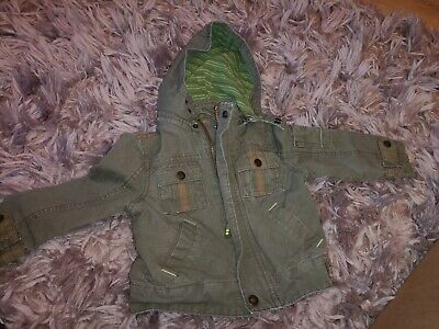 Superb Little Boys Designer Ted Baker Military Jacket Uk 2-3 Years Rrp £70.00