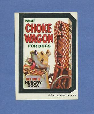 Wacky Packages 1973 Series 4 Choke Wagon Rare Variation