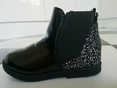 Bluezoo girl glittery ankle boots shoes size UK 10 kids BNWT RRP £24