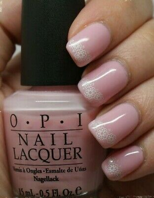 OPI KISS ON THE CHIC Sheer Pink FRENCH MANICURE Nail Polish Lacquer H31 .5oz NEW