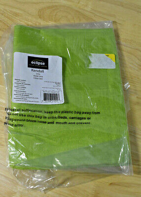"""Kendall Blackout Wave Window Valance Eclipse My Scene Lime Green 42"""" x 18"""""""