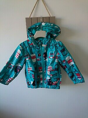 Next baby boy lightweight cotton lined green jacket 12-18 months great condition