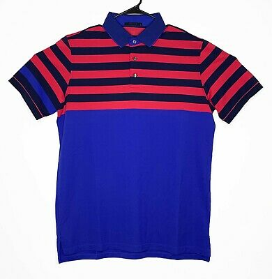 d402dd3b Greyson Golf Short Sleeve Polo Shirt Wolf Mens Large Blue Pink Pima Poly  Spandex