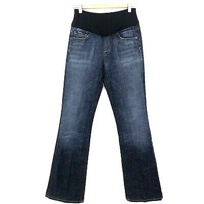 b7a921e6fca56 Citizens Of Humanity 015-001 Kelly Bootcut Maternity Jeans Dark Wash Size 26