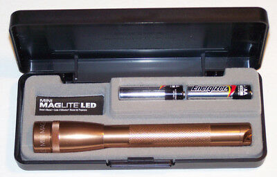 COPPER MAGLITE SP22JY7 Mini Mag 2Cell LED Flashlight 145 meter Fathers Day Gift