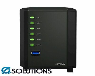 "Synology DiskStation DS416Slim 4-Bay 2.5"" Diskless 2xGbE NAS (HMB)"