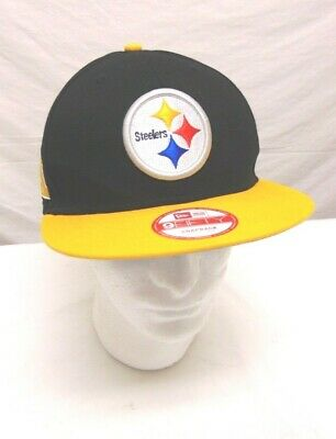super popular e25a9 5c3b7 New Era 9Fifty Hat NFL Pittsburgh Steelers Snapback NFL Black Gold Cap