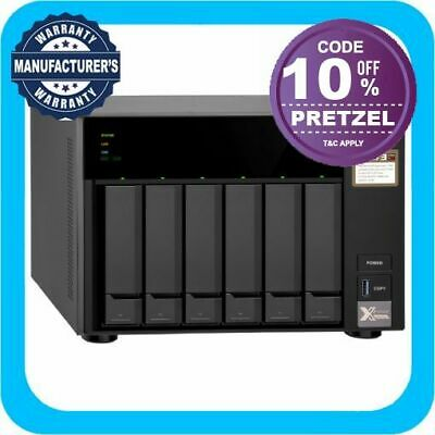 QNAP TS-673-4G 6 Bay Diskless NAS AMD RX-421ND Quad Core 2.1GHz CPU 4GB RAM