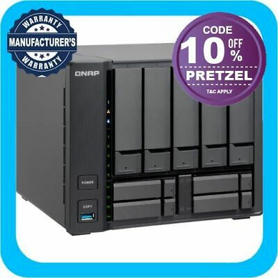 QNAP TVS-951X-2G 9 Bay Diskless NAS Intel Celeron 3865U 1.8GHz CPU 2GB RAM