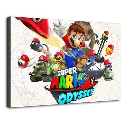 """16""""x24"""" Super Mario HD Canvas prints Painting Home decor Picture Room Wall art"""