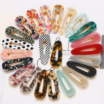 120 Styles Leopard Acid Acetic Acrylic Pin Barrette Hair Clips Girl New