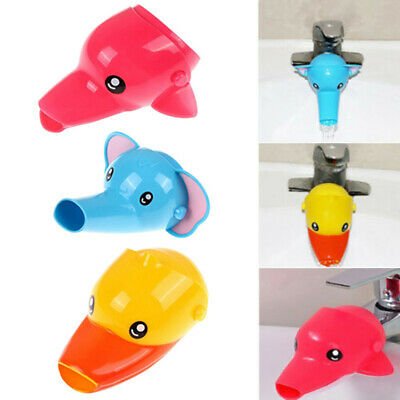 Cute Animal Toddler Kid Bathroom Hand Washing Faucet Tap Extender Sink Handle ll