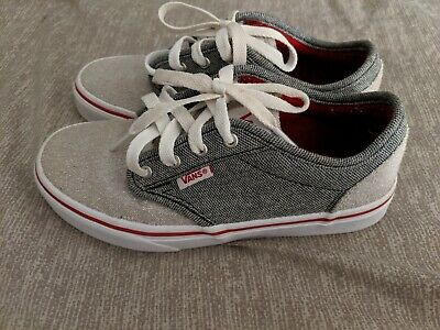 VANS GRAY SKATE Shoes Casual Boys Youth Size 6 Lace Up