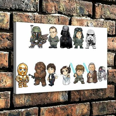 "Star Wars Character HD Canvas prints Painting Home Decor Poster Wall art 16""x24"""