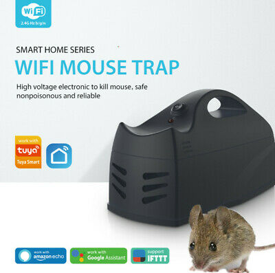 Electronic Mouse Trap Rat Killer Pest Mice Rodent Zapper Reusable WiFi Control