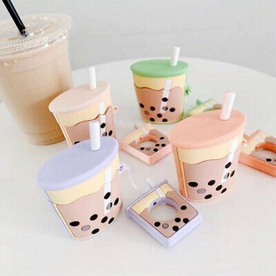 Cute Pearl Milk Tea Cup Protective Cover Shockproof Case Skin for Airpods Y1