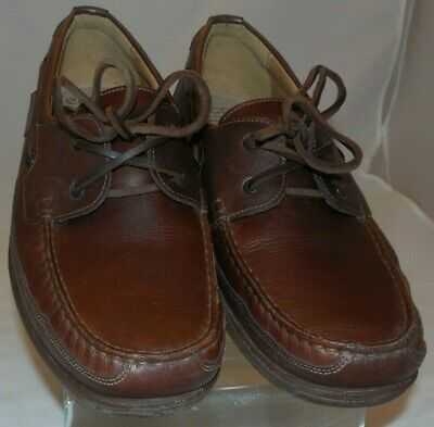 35ace48c280 MEPHISTO Air Relax Spinnaker Brown Leather Loafers Boat Shoes $350 Men US 12