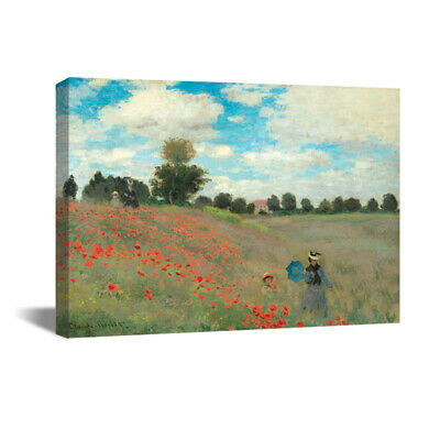 Poppies Claude Monet HD Canvas Print Art Oil Painting Wall Decor 22x29""