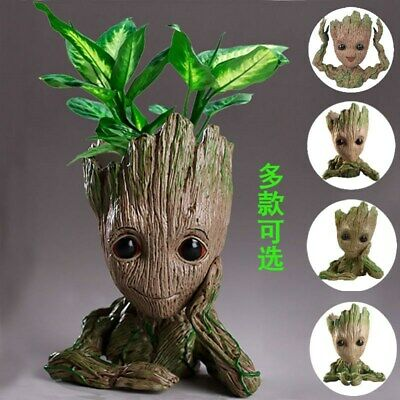 Guardians of The Galaxy Groot Figure Flowerpot Pen Pot Toy Party Gifts 14-16CM