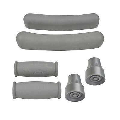 Crutches Replacement Pack, Crutch Tips, Handle, Underarm Cover - Spare Parts AU