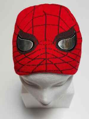 Boy Spiderman Beanie Kids Children Warm Winter Knit Hat Boys Children CX25 Red