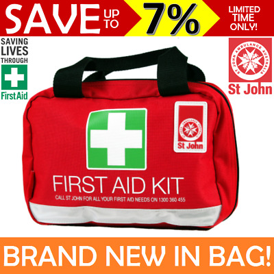 NEW St John Ambulance First Aid Kit Small Family Work Travel OHS WHS COMPLIANT