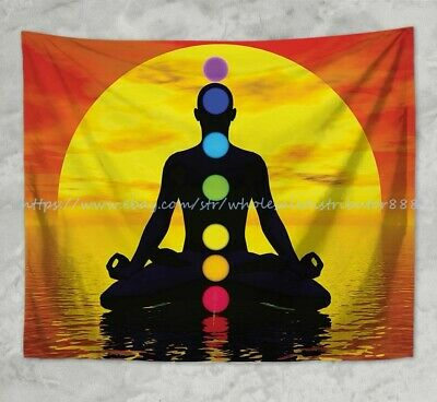 US SELLER-chakras meditation wall hanging tapestry home accent wall decor