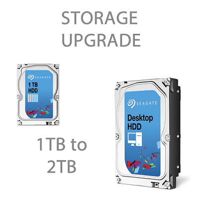 "Upgrade Seagate 1TB to 2TB 3.5"" HDD"