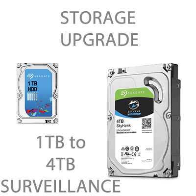 "Upgrade Seagate 1TB to 4TB Surveillance 3.5"" HDD"