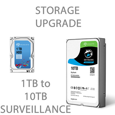 "Upgrade Seagate 1TB to 10TB Surveillance 3.5"" HDD"
