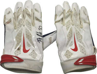 976c10e6c1 Rob Gronkowski Signed Autographed Patriots Game Used Gloves Beckett BAS