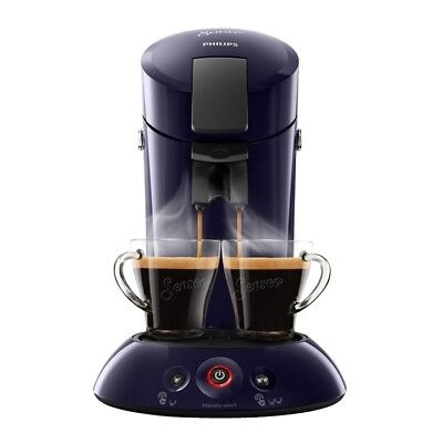 Philips Senseo HD6554/40 Kaffeepadmaschine dunkelblau Kaffee Boost Technologie