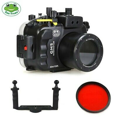 Seafrogs 40M Underwater Camera Housing for Panasonic GH5 GH5S w/Aluminium Tray