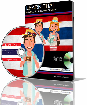 Learn to speak THAI Language COMPLETE Course CD MP3 AUDIO & PDF TEXTBOOKS