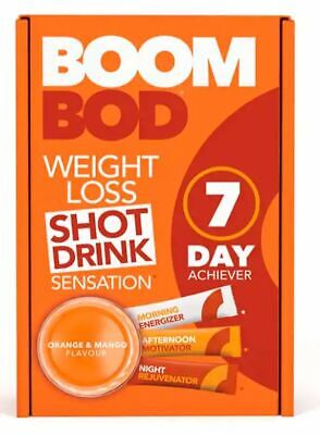 BOOMBOD 7 Day Achiever 21 Sachets - Sent out of Box - Orange and Mango