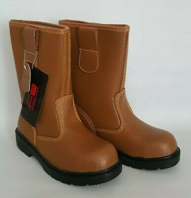 f76bb6f34a4 BLACKROCK RIGGER BOOTS Safety Steel Toe Cap Fur Lined Leather Mens ...