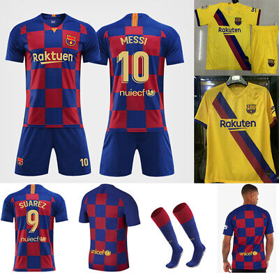 pretty nice 5a860 54ffb 19/20 MESSI FOOTBALL Youth Jersey Strips Soccer Training Sports Kit Kid Boy  Suit