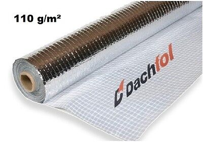 Vapour Barrier Thermal Insulation Aluminium Foil Membrane - 1.5m x 50m (75SQ/M)