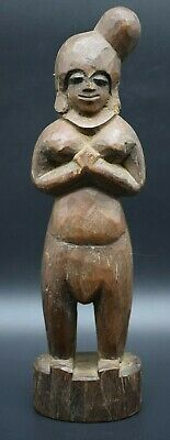 Papa New Guinean Tribal wooden female figurine C. 19th century AD