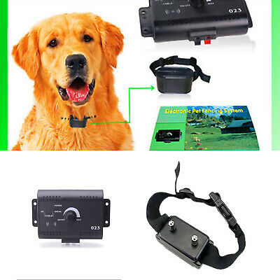 Dog Collar Pet Containment System Electric Shock Boundary Control Fence