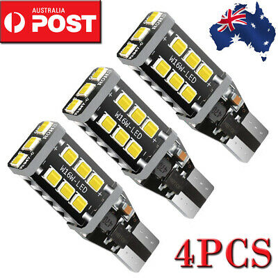 4PC T10 T15 LED Light Parker Wedge 7.5W 921 Bulb CANBUS Error Free 800 Lumens A
