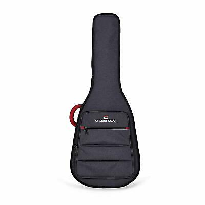 Crossrock CRSG107DDG Dreadnought Guitar Bag, 10mm Padding, Backpack, Dark Grey