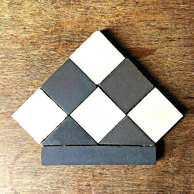 ORIGINAL Victorian Georgian Path Tiles  :: Mosaic Geometric Floor :: GREAT COND