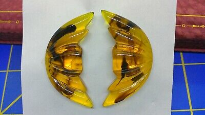 Vintage 1940'S New Old Stock Large Lucite Clip Earrings-Mint!!