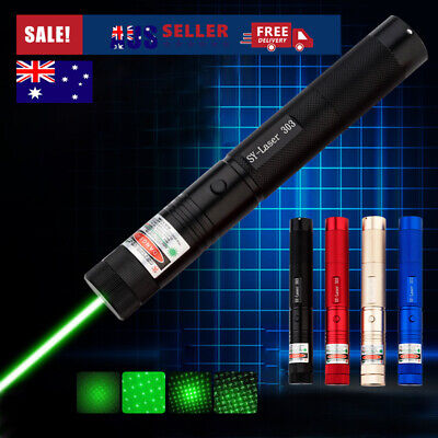50Miles High Power Military Laser Pointer Pen Green 532nm Burning Beam Light