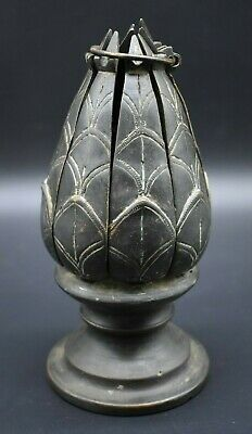 Antique bronze Thai Buddhist shrine in shape of lotus flower C. 19th century AD